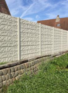 betonnen schermen met structuur