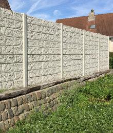 betonnen tuinschermen met structuur