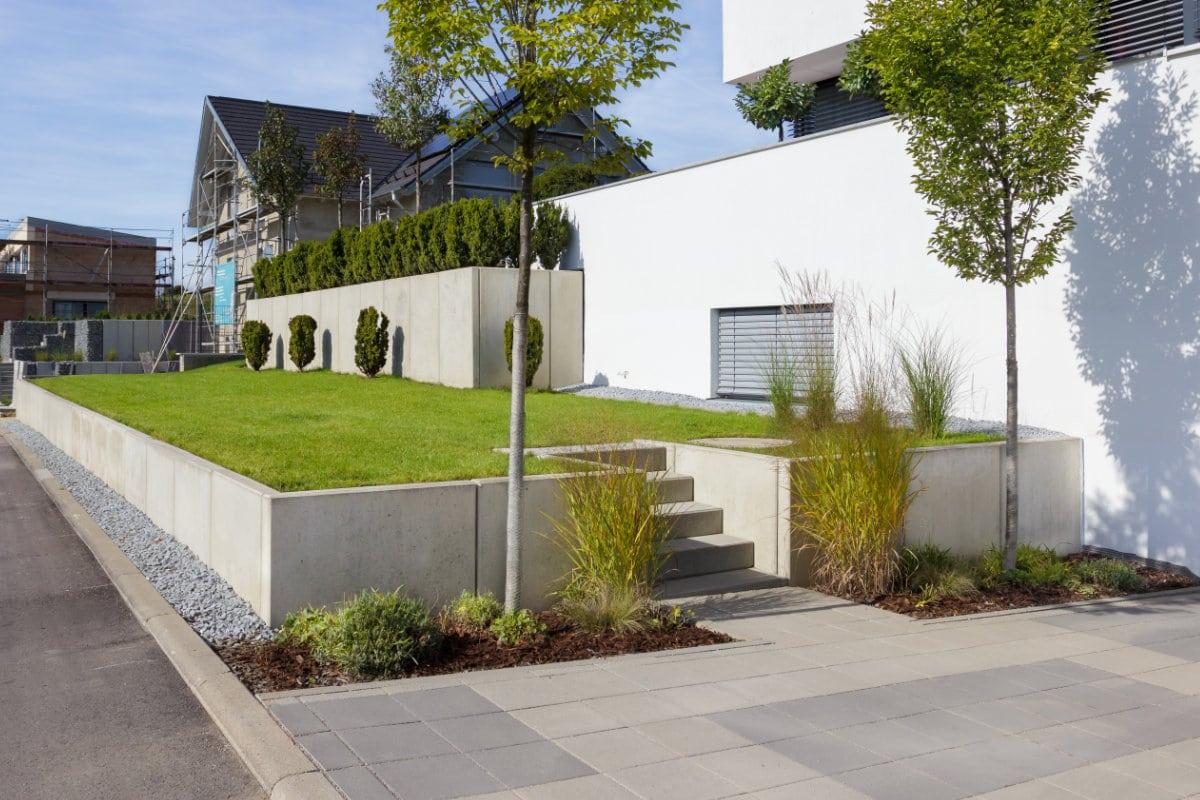 moderne betonnen schutting
