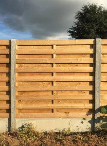 schutting beton hout